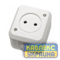 Роз. 1 откр. бел. IP44 MAKEL