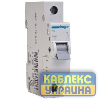 Авт.выкл. 1п 06 kA, C, In=0,5A, 1м Hager
